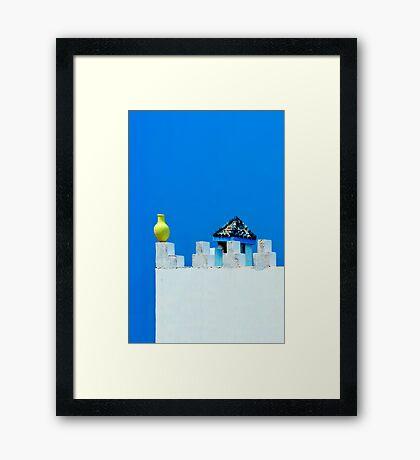 Battlements in Blue II Framed Print
