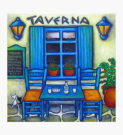 Table for Two in Greece Photographic Print