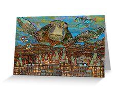 Sea Turtle over Atlantis Greeting Card