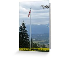 Vancouver from Burnaby Mountain Greeting Card
