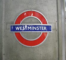 Westminster Tube Station Sign by HapaCanuck