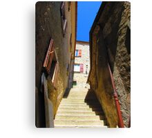stop & stair Canvas Print