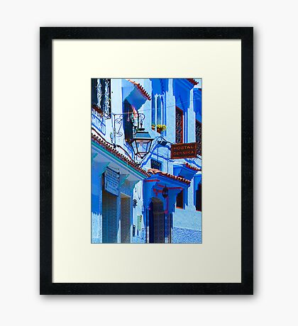 Blue City VI Framed Print