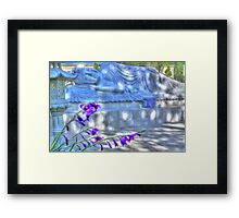 Sleeping Buddha HDR 2 Framed Print