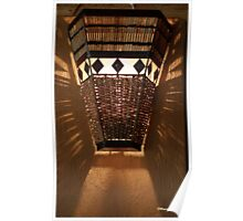 AFRICAN OUTDOOR LIGHTING in RATTAN Poster