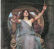 Circe Offering the Cup to Ulysses by John William Waterhouse by Aconissa