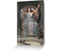 Circe Offering the Cup to Ulysses by John William Waterhouse Greeting Card