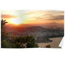 sunset in Rio de Janeiro Poster