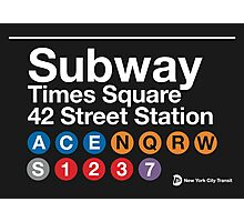 NYC Subway Sign Photographic Print
