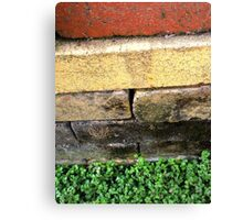 """Bricklayer's Layers"" Canvas Print"