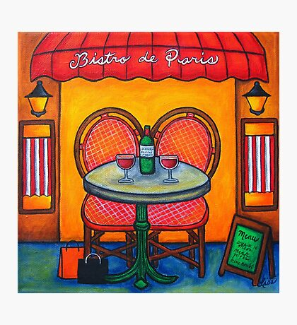 Table for Two in Paris Photographic Print