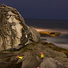 A LONELY ROCK IN THE SEA by normanorly