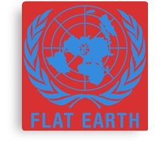 Flat Earth Canvas Print
