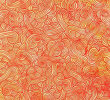 Orange and red zentangles by savousepate