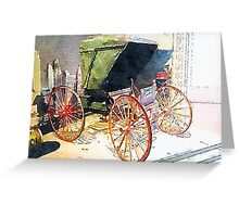 Horseless Carriage, Saratoga Springs, NY Greeting Card