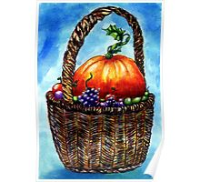 Vegetables in Basket 2 Poster