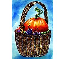 Vegetables in Basket 2 Photographic Print