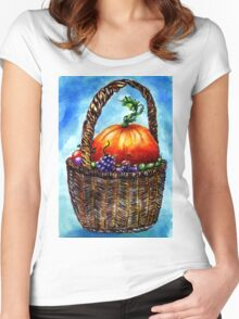 Vegetables in Basket 2 Women's Fitted Scoop T-Shirt
