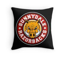 Sunnydale Razorbacks Throw Pillow