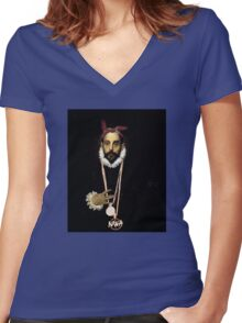 West coast greco Street Art Women's Fitted V-Neck T-Shirt