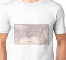 Vintage Map of The Southern United States (1868) Unisex T-Shirt
