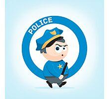 Cute Policeman Photographic Print
