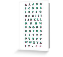 Flamingo Letters Greeting Card