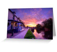 The Boat Inn Sunrise Greeting Card