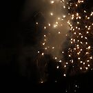 Diwali fireworks in a London suburb by Themis