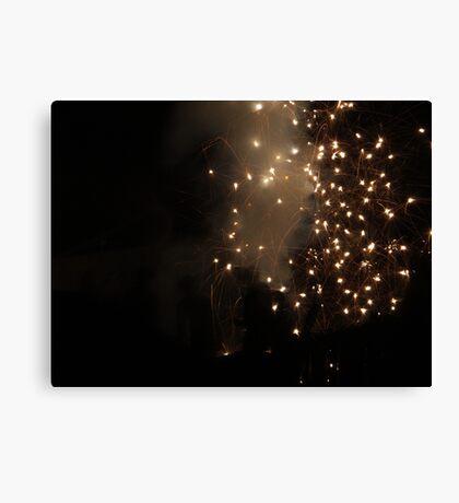 Diwali fireworks in a London suburb Canvas Print
