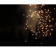 Diwali fireworks in a London suburb Photographic Print