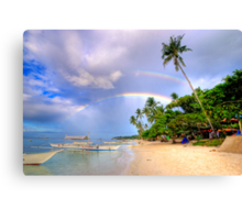 Panglao Island Double Rainbow Canvas Print