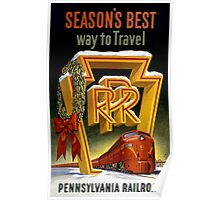 Season's Best Way to Travel Vintage Poster Poster
