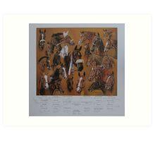 Hickstead Derby Winners 1961-1995 Art Print