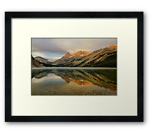 Bow Lake Sunrise  Framed Print