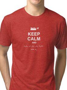 Keep Calm and Carry On - Morse Code T Shirt Tri-blend T-Shirt