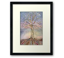 Puzzle Tree Framed Print