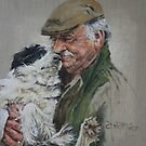 How much does this man love his dog or vice versa? by David McEwen