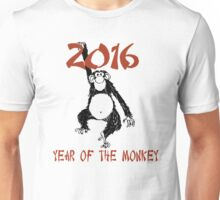Chinese Zodiac Year of The Monkey 2016 Unisex T-Shirt