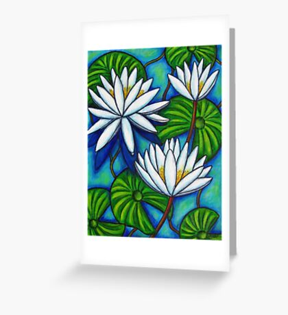Nymphaea Blue Greeting Card