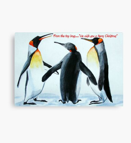Singing Penguins Canvas Print