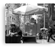 The Hot Dog Vendor Canvas Print