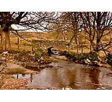 By a Babbling Brook Photographic Print