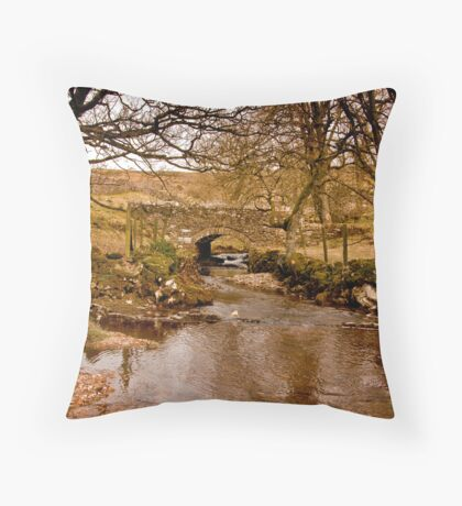 By a Babbling Brook Throw Pillow