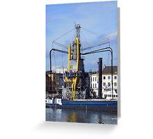 Grain Elevator Antwerp Greeting Card