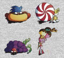 Sonic team + favorite foods One Piece - Long Sleeve