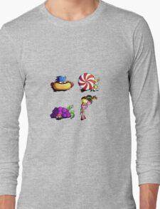 Sonic team + favorite foods Long Sleeve T-Shirt