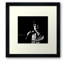 Lollipop closes the mouth  kids  hahahaah Framed Print