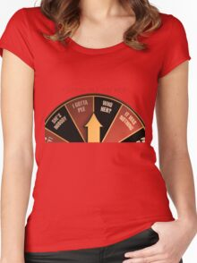 Scott Pilgrim's wheel of indecision Women's Fitted Scoop T-Shirt