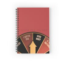 Scott Pilgrim's wheel of indecision Spiral Notebook